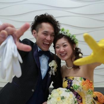 ゲストの人と多く触れ合い、楽しんで頂ける結婚式にしました♡
